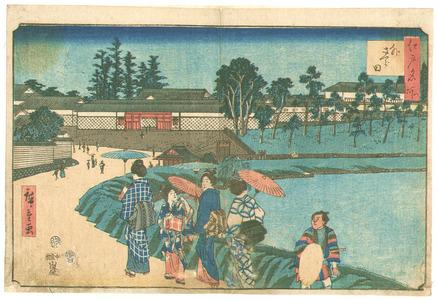 歌川広重: Soto Sakurada - Edo Meisho - Artelino