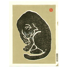 代長谷川貞信〈3〉: Black Cat (right sheet) - Artelino