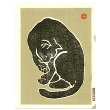 Hasegawa Sadanobu III: Black Cat (right sheet) - Artelino