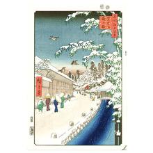 Utagawa Hiroshige: Yabukoji at Atagoshita - Meisho Edo Hyakkei - Artelino