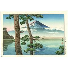 Tsuchiya Koitsu: Mt.Fuji Seen from Lake Kawaguchi - Artelino