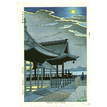 Fujishima Takeji: Moonlight in Mii Temple - Artelino