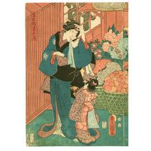 Utagawa Kunisada: Flower Shop - Artelino