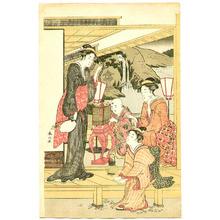Katsukawa Shunzan: Garden Play - Artelino
