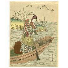 鈴木春信: Fisherman and Birds - Artelino