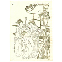 Kitagawa Utamaro: Lady from Ox Cart Key-block Prints - Artelino