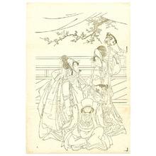Utagawa Toyohiro: Toy Horse Dancing Key-block Prints - Artelino