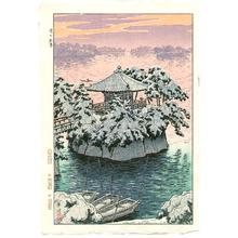 笠松紫浪: Snow at Matsushima - Artelino