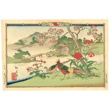 Utsushi Rinsai: Poppies and Golden Pheasants - Artelino