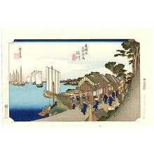 歌川広重: Shinagawa - Tokaido Gojusan Tsugi (Hoeido) - Artelino