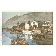 Yoshida Hiroshi: Harbor in Tomonoura (Jizuri) - Artelino