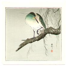 小原古邨: Green Bird - Artelino