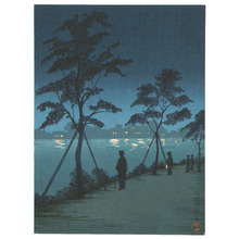 Kobayashi Kiyochika: Looking at Evening Lights - Artelino