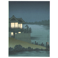 小林清親: House near a Lake - Artelino
