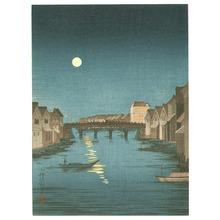 小林清親: Bridge and Storage Houses - Artelino