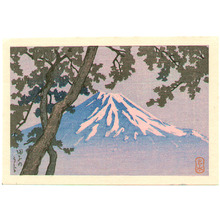 川瀬巴水: Mt.Fuji from Tago (postcard size) - Artelino