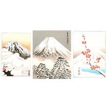 無款: Mt. Fuji (Three koban prints) - Artelino