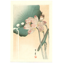 Watanabe Seitei: Bird and Lotus Flower (postcard size) - Artelino