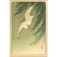 小原古邨: Egret and Willow Tree (small print) - Artelino