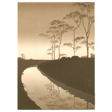 Koho: Canal by the Moonlight (Sepia, first edition) - Artelino
