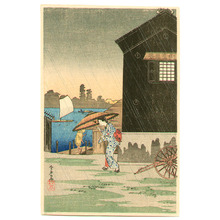 Takahashi Hiroaki: Rain at Imado (postcard size print) - Artelino