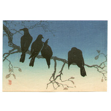 Takahashi Hiroaki: Crows on a Cold Night (postcard size print) - Artelino