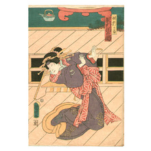 Utagawa Kuniaki: Brother and Sister - Artelino