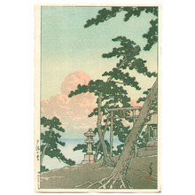 Kawase Hasui: Clouds Aglow with the Setting Sun - Artelino