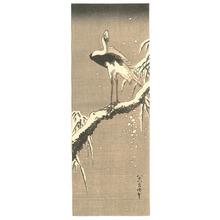 Katsushika Hokusai: Egret on Snowy Branch - Artelino