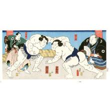 Utagawa Kunisada: Sumo Match - Artelino