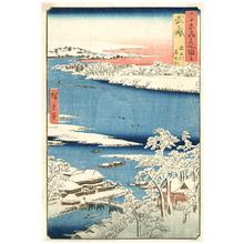 Utagawa Hiroshige: Musashi - Famous Places in the Sixty-odd Provinces - Artelino