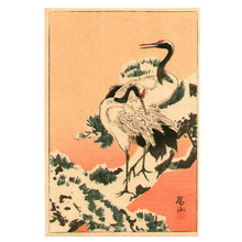 Ito Sozan: Cranes on Snowy Pine Branch - Artelino