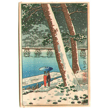 風光礼讃: Song Bird and Zojoji Temple (Three postcard size prints) - Artelino