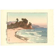 吉田博: Shirahama Beach (jizuri, handsigned, deluxe) - Artelino