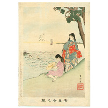 宮川春汀: Beauties on the Beach - Yukiyo no Hana - Artelino