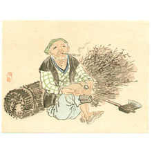 幸野楳嶺: Wood Cutter - Artelino