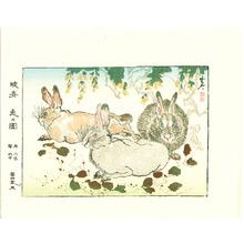 Kawanabe Kyosai: Wild Rabbits - Artelino