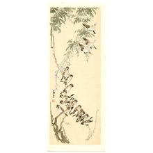 Nagasawa Rosetsu: Sparrows on Wisteria - Artelino