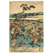 Utagawa Kunisada: Hunting at the Foot of Mt.Fuji - Artelino