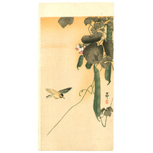 小原古邨: Hummingbird and Green Beans - Artelino