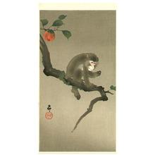 Ohara Koson: Monkey and Persimmon - Artelino