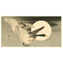 小原古邨: Two Ducks and the Moon - Artelino