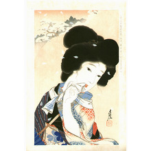 Igawa Sengai: August - Collection of New Ukiyoe Style Beauties - Artelino