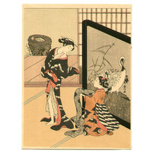 Suzuki Harunobu: Ladies and Crane Screen - Artelino