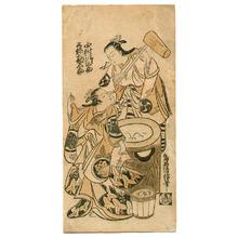 Torii Kiyonobu II: Making Rice Cakes - Artelino