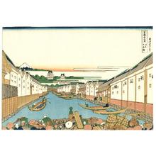 Katsushika Hokusai: Nihonbashi - Thirty-six Views of Mt.Fuji - Artelino