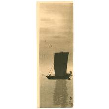 小原古邨: Fishing Boats at Sea - Artelino