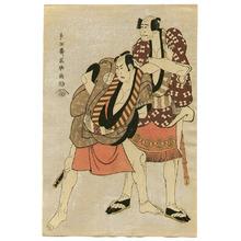 東洲斎写楽: Otani and Arashi - Kabuki - Artelino