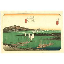 歌川広重: Ejiri - Fifty-three Stations of the Tokaido (Hoeido) - Artelino