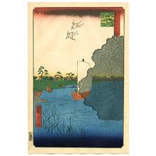 歌川広重: Scattered Pines, Tone River - One Hundred Famous View of Edo - Artelino